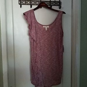 Jessica Simpson Ruffle Front Maternity Top